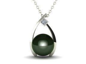 Wish Pearl & Diamond Pendant