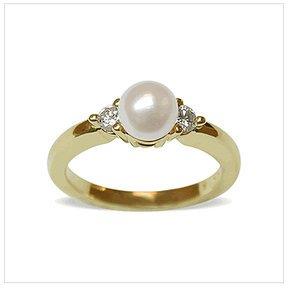 Eve a Japanese Akoya Pearl and Diamond Ring