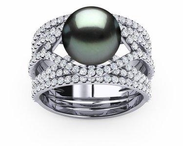 Tahitian Pearl Deluxe Rainbow Ring