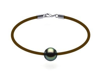 Tahitian Pearl Bracelet St. Barts Black Green