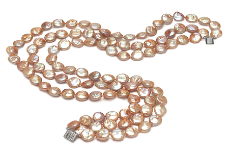 11mm  Coin Freshwater Pearl Necklace