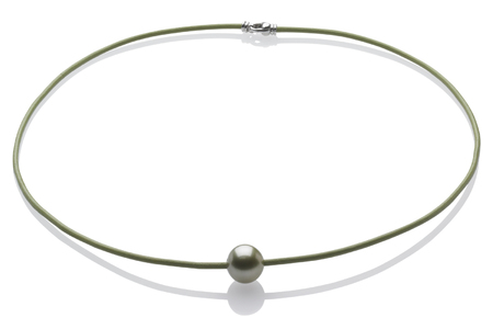 Pearl and Cord Necklace