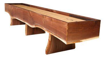 Heirloom Big Sky Shuffleboard Table - Live Edge Walnut