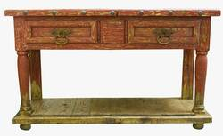 """Aspen Antique Red 64"""" Console Table"""