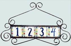 Wrought Iron Address Plaque