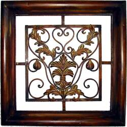Decorative Wrought Iron Wall Plaque #3