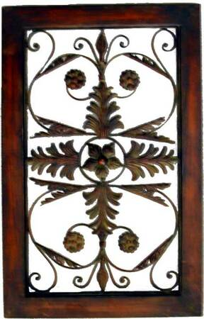 Decorative Wrought Iron Wall Plaque #5
