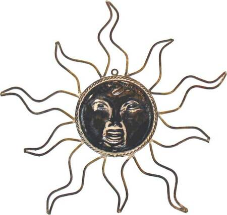Wrought Iron Med. Brown Sun Face