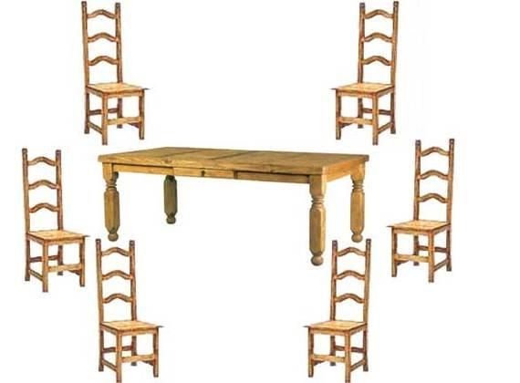 Lyon Rustic Dining Table Set