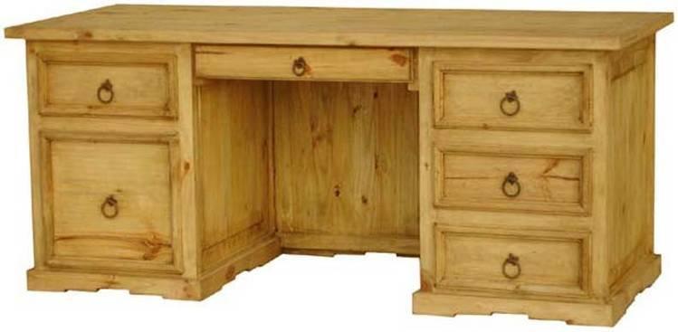 Rustic Wood Executive Desk