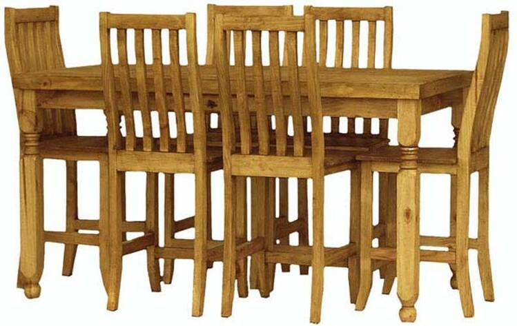 Lyon Rustic Pub Dining Room Set