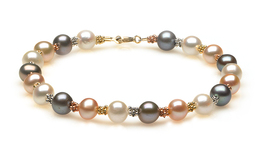 Tri Color Pearl Bracelet