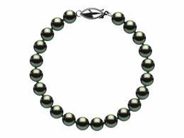 6mm Black Freshwater Pearl Bracelet