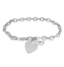 Precious Heart Pearl Bracelet