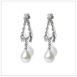 Heidi a Drop White South Sea Pearl Earrings