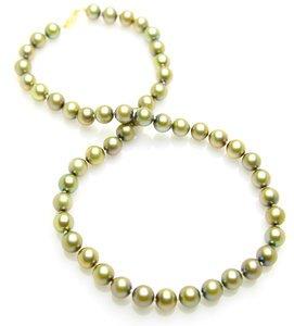 8 x 8.5mm Pistachio Pearl Necklace
