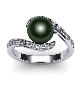 Swirl Tahitian Pearl Ring