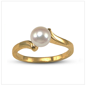 Corinthian a Japanese Akoya Cultured Pearl Ring