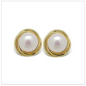 Fresh Spiral a Freshwater Cultured Pearl Earring
