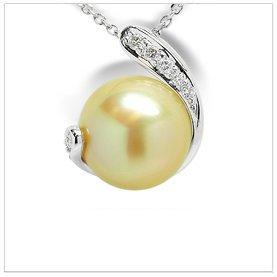 Nina a Golden South Sea Cultured Pearl Pendant