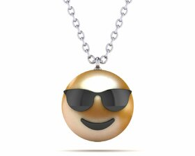 Pearl Emoji Pendant Smiling Face With Sunglasses