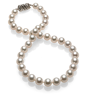 9 x 9.9mm White South Sea Pearl Necklace
