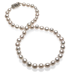 SOLD - 8 x 9.3mm Natural Pearl Keshi South Sea Necklace
