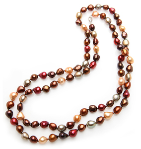 8 x 8.5mm Candy Color Opera Pearl Necklace