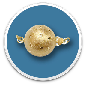 Brush Gold Ball Clasp