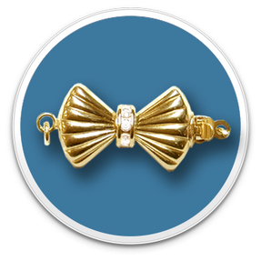 14K Yellow Diamond Bow Clasp