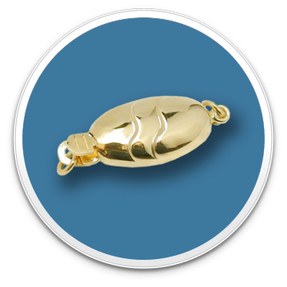 14K Yellow Gold Oval Fish Clasp