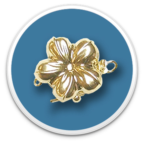 14K Yellow Gold Golden Flower Clasp