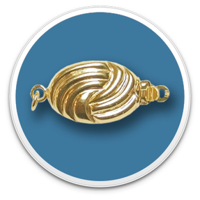 14K Yellow Gold Golden Oval Designer Clasp
