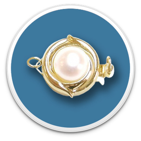 14K Yellow Gold Golden Pearl Clasp