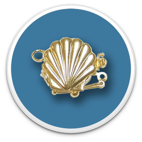 14K Golden Sea Shell Clasp