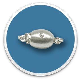 7mm Oval Plunger Platinum Clasp