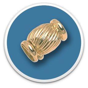 14K Gold Barrel Clasp
