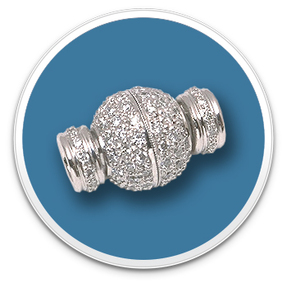 Diamond Ball Rondell Clasp