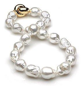 14 x 16mm Baroque South Sea Pearl Necklace