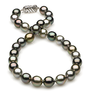 10.48x11.30mm Multicolor Tahitian Drop Necklace