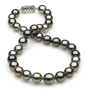 10.40x11.36mm Multicolor Tahitian Drop Necklace