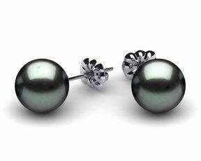9mm Black South Sea Tahitian Pearl Earring
