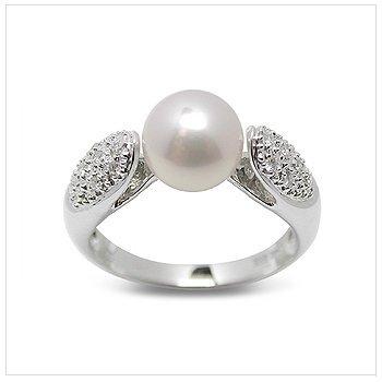 Becca a Japanese Akoya Cultured Pearl Ring