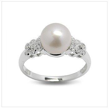 Zaria a Japanese Akoya Cultured Pearl Ring