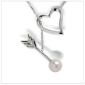 Heart & Arrow Freshwater Pearl Pendant