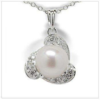 Zelia a Japanese Akoya Cultured Pearl Pendant