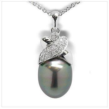 Jezebel a Black Tahitian South Sea Cultured Pearl Pendant