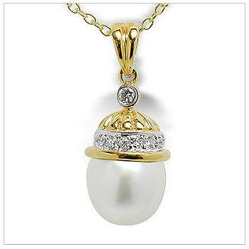 Paras a Australian White South Sea Cultured Pearl Pendant