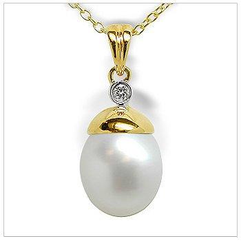Nell a Australian White South Sea Cultured Pearl Pendant