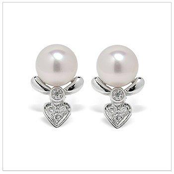 Etoile a Japanese Akoya Cultured Pearl Earring